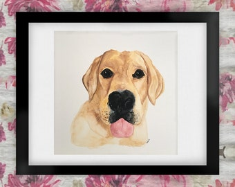 Simon the English Labrador Retriever Watercolor Art Print