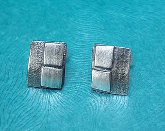 Great studs silver Blackened! Manual work!