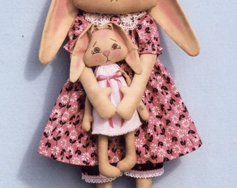 Primitive PATTERN Pretty In Pink Bunny
