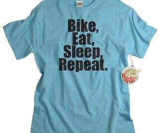 Biking Shirt Cyclist t shirt Bike Eat Sleep Repeat tshirt birthday anniversary gift for men bicycle cycling boyfriend husband dad