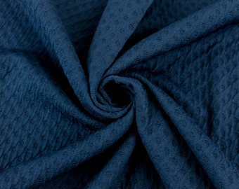Navy Poly Rayon Spandex Jacquard Fabric By the Yard Style 468