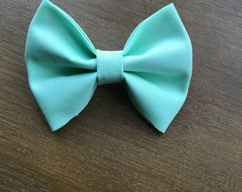 Mint girl/baby/toddler bow