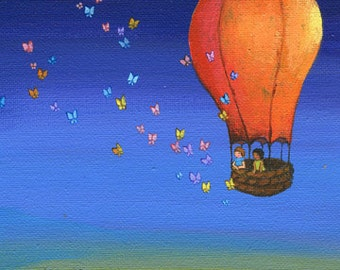 Print of Butterfly Balloon