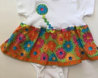 Baby girl's Onesie Dress Bodysuit 12 months
