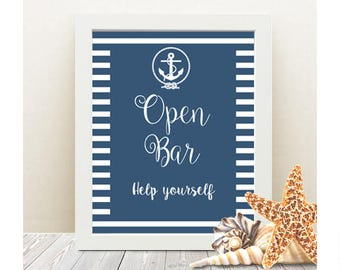 Open bar poster etsy open bar help yourself wedding sign instant download printable poster bar sign solutioingenieria Gallery