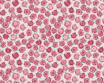 Roses - Rosey Love Pink Patterned Vinyl  - Permanent Glossy Vinyl or Permanent Matte Vinyl
