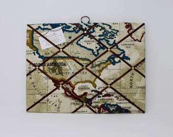 Traveler pinboard etsy fabric noticeboard map pin board map fabric teenage boy gifts pin board gumiabroncs Image collections