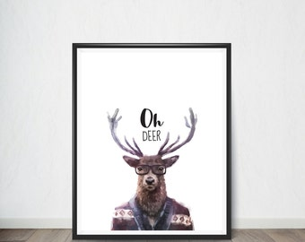 Deer Digital Print, Animals Wall Art, Art Print, Digital Art, Digital Art Print, Digital Artworks, Digital Print Art, Digital Art Download