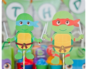 TMNT birthday party; Teenage Mutant Ninja Turtle Centerpieces; TMNT Party; Ninja Turtle Birthday Party