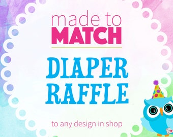 Diaper Raffle Tickets, Matching Baby Shower Diaper Raffle, Matching Party Coordinates, Printable