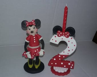 minnie mouse candle  and minnie  inspired