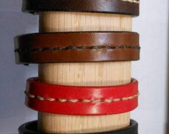 Hand-Laced Leather Wristbands