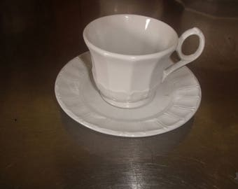lot 6 vintage red cliff ironstone heirloom cup saucer sets