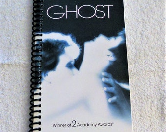 Ghost, VHS Film Box, Handmade, VHS Upcycled Notebook, Journal