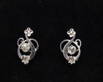 Antique Earrings in Gold Diamonds antique earrings small gold diamonds