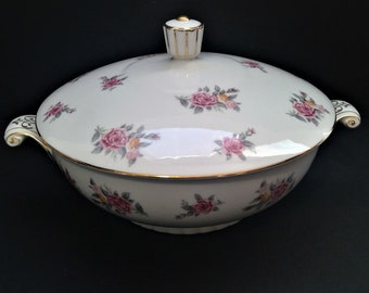 Covered Casserole Dish, Flowered Serving Bowl, Naruto Hinsdale, Occupied Japan China