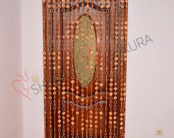 Door bead Curtain door beads Decor for living room Wood blinds Curtains Beaded Door Curtain Wood Bead Door Curtain Handmade Door curtain