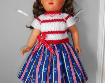 Françoise doll / Emily / Francette of fashions and work - seaside dress