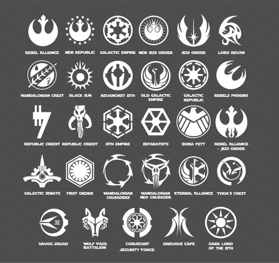 star wars symbols crests decals