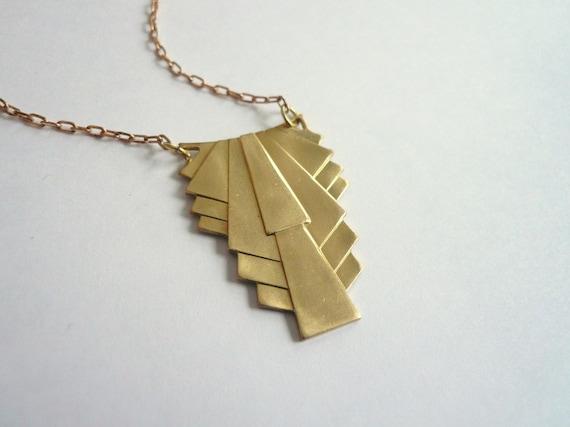 Art deco necklace classic necklace gold necklace pendant audiocablefo