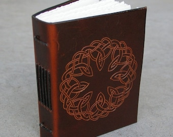 SALE Leather Journal\/Diary\/Sketch Book-Celtic Knot Work