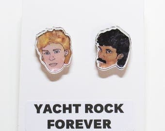 Yacht Rock Acrylic Stud Earrings