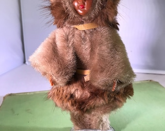 Vintage Eskimo Doll with Baby