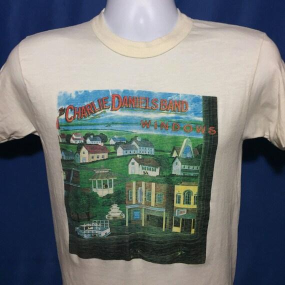 Vintage 1982 Charlie Daniels band windows concert tour t shirt *XS VX76vc42