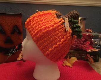 Crochet Toddler Pumpkin Beanie