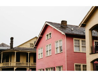 Pink House Print New Orleans French Quarter Photography NOLa Art Pink House Photography Pink Decor