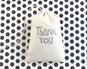 Thank You Favor Bag Wedding Welcome Muslin Bag Baby Shower Gift Bag Birthday Party Gift Bag Bachelorette Bridesmaid Groomsmen