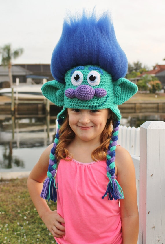 Trolls Happy Branch Crochet Hat Pdf Pattern Crochet Hat