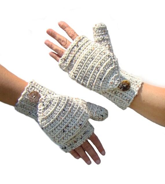 Aran Fleck mitones convertibles sin dedos manoplas guantes
