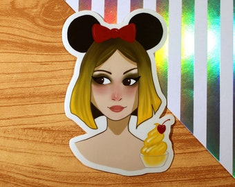 Dole Whip Food Fangirl // Large Sticker