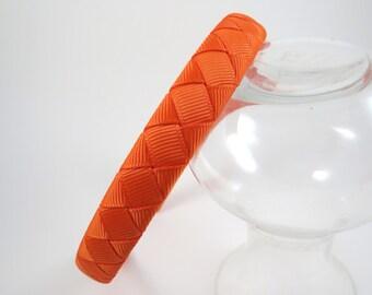 Orange Headband - Headband - Orange - Hard Headband - Ribbon Woven Headband - Hard Plastic Headband - Child Toddler Teenager Adult Headband