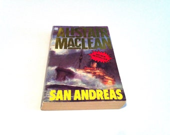 San Andreas by Alistair MacLean, Copyright 1984, Vintage Novel, Fiction Novel