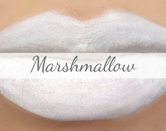 "White Lipstick Sample - ""Marshmallow"" vegan mineral lipstick made with all natural ingredients"