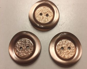 Mocha pearlescent buttons (x3)