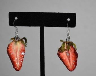 Real Strawberry Earrings