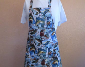 Men's Apron for the Fishing Enthusiast