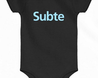 Baby Subte Buenos Aires One Piece - Argentina Subway Infant Romper - NB 6m 12m 18m 24m - Argentina Baby - 2 Colors