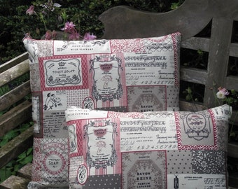 French soap patchwork style cushion