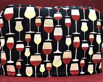 2-Slice Wine Glass Reversible Toaster Cover
