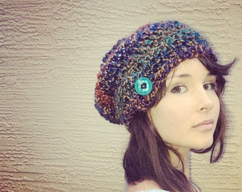 Slouchy Beanie / Crochet Slouch Beanie / Bulky Hat / Slouch Hat