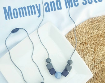 Teething Necklace/Mommy and Me Necklace Set/toddler necklace