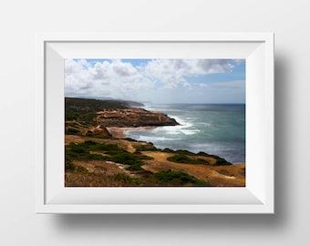 Ocean Picture, Waves Picture, Ocean Photo, Coastal Photo, Beach Decor, Bathroom Decor, Blue and White, Ocean Art, Download Print, Travel