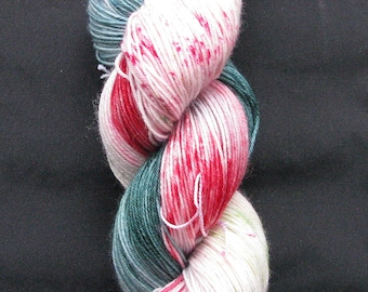 4 Ply Driving Home For Christmas . Hand dyed sock yarn