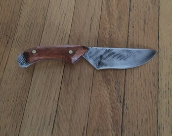 Knife hand forged from Farrier's Rasp