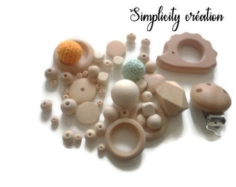 Kit wood beads