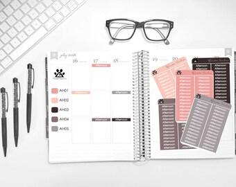 MATTE | Afternoon Header Loonie Prints | Erin Condren | Vertical | Planners